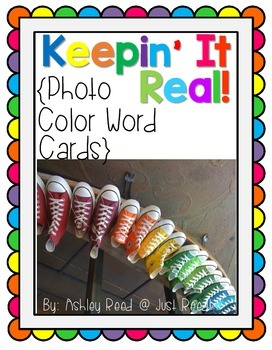 Photo Color Word Cards