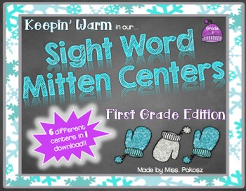 Keepin' Warm with Sight Word Mitten Centers - First Grade Edition