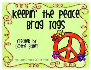 Keepin' the Peace Brag Tags