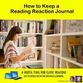 Keeping a Reading Reaction Journal Google Drive Digital Resource