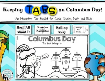 Keeping Tabs on Columbus Day {Tab Book for Math and Literacy Fun}