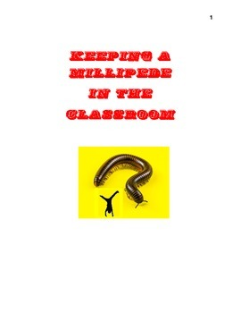 Keeping a Millipede in the Classroom