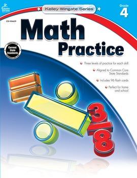 Kelley Wingate Math Practice Grade 4 SALE 20% OFF! 104629
