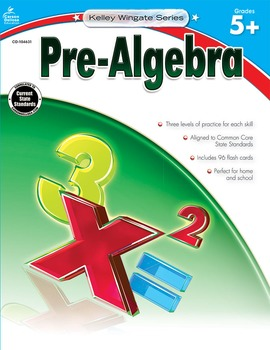 Kelley Wingate Pre-Algebra Grades 5-8 SALE 20% OFF! 104631