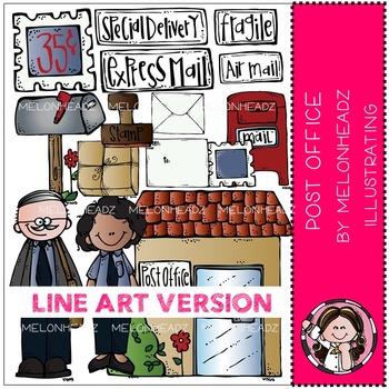 Kelly's post office by Melonheadz LINE ART