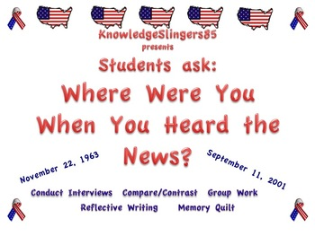 """Kennedy and 9-11 : Students ask, """"Where Were You When You"""