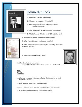 Kennedy iBook questions
