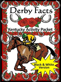 Kentucky Derby Activity Packet Black & White Version