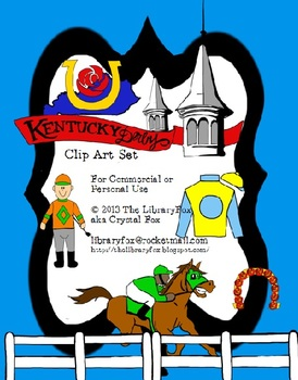 Kentucky Derby Clip Art Set for Commercial or Personal Use