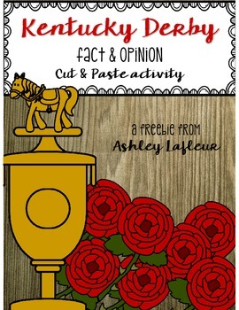 Kentucky Derby Fact & Opinion Cut & Paste FREEBIE