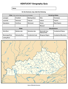 Kentucky Geography Quiz