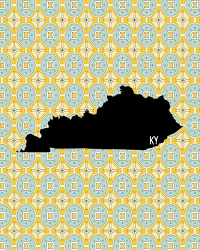 FREEBIE! Kentucky Vintage State Map or Poster Class Decor,