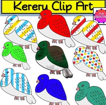 Kereru (Wood Pigeon) Clip Art