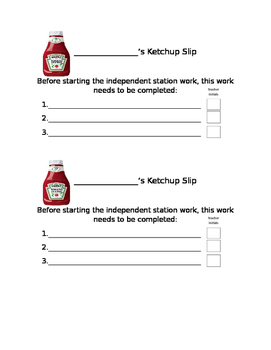 Ketchup (Catch-up) Slip