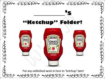 Ketchup Folder (Horizontal)