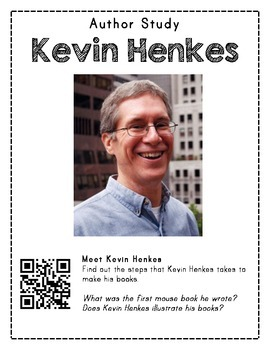 FREEBIE Author Study with QR Codes - Kevin Henkes