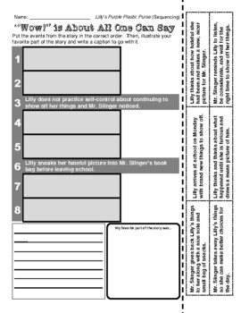 Kevin Henkes (Lilly's Purple Plastic Purse - Sequencing /