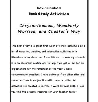 Kevin Henkes Story Studies