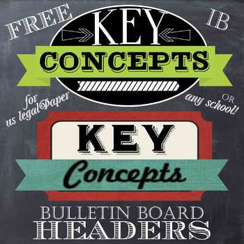 Key Concept Poster headers for US legal Paper