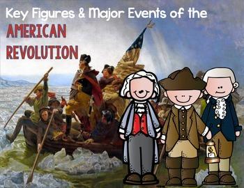 Key Figures & Major Events of the American Revolution Task