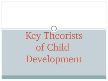 Key Theorists of Child Development