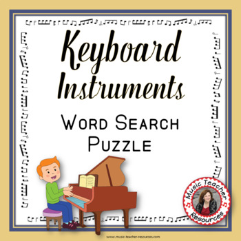 Keyboard Instruments Word Search