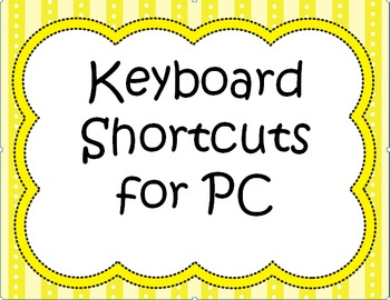 Keyboard Shortcuts for PC - Posters