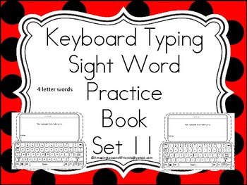 Keyboard Sight Words Practice Books Set 11