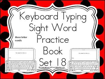 Keyboard Sight Words Practice Books Set 18