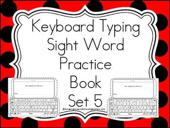 Keyboard Sight Words Practice Books Set 5