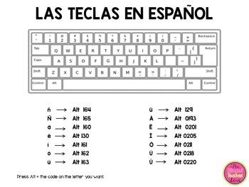 Keyboard in Spanish