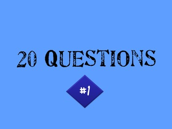 Keyboarding Game - 20 Questions Trivia