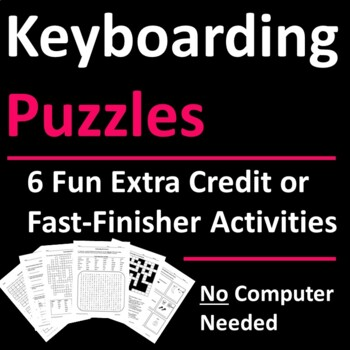 Keyboarding Skills Activities for Fast-Finishers, Sub Days