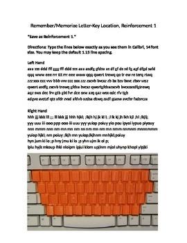 Keyboarding-Typing- Remember-Memorize Letter-Key Location,
