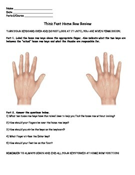 Keyboarding-Typing- Think Fast Home Row Review