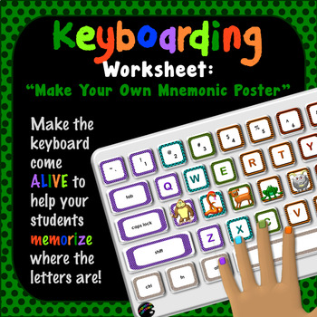 "Keyboarding Worksheet C (""Make Your Own Keyboard Mnemonic"