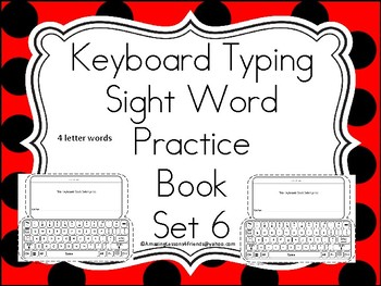 Keyboards Typing Sight Words Practice Books Set 6