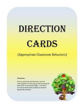 Keyring Cards--Appropriate Classroom Behaviors