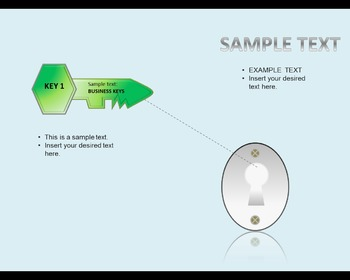 Keys 3D Diagram and Template