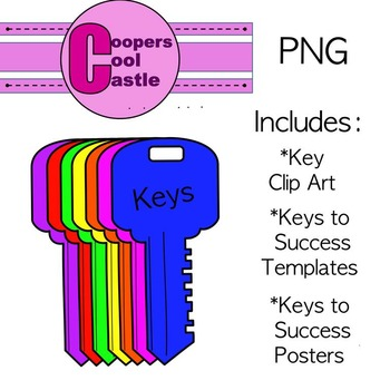 """Keys To Success"" Writing Activity & Digital Clip Art"