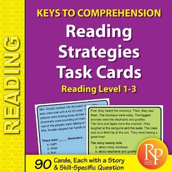 Reading Strategies Task Cards: Keys to Comprehension (Read