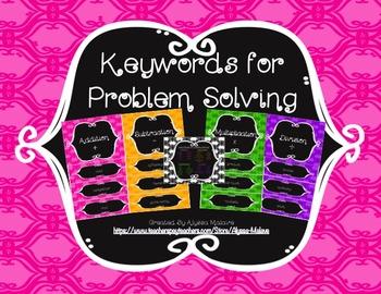 Keywords for Problem Solving Bulletin Board Set