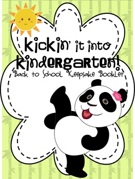 Kickin' it into Kindergarten: A Back to School Keepsake Book