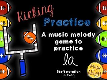 Kicking Practice: Field Goal Inspired Melodic Practice, la
