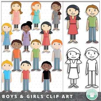 Kid Clip Art Boys and Girls