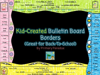 Bulletin Board Borders For Back-to-School {Kid Created}