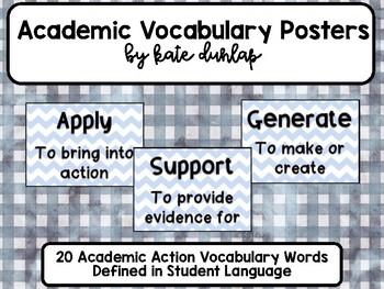 Kid Friendly Academic Vocabulary