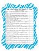 Kid Friendly Common Core Checklist ELA - 1st Grade