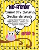 Kid-Friendly Common Core Standard Cards--Grade 1! {Bright
