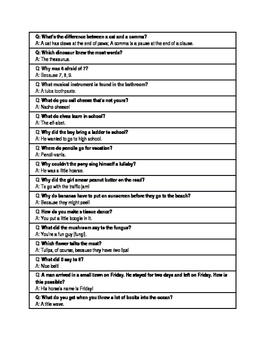Kid-Friendly Jokes for Articulation, Multiple Meanings, and More!